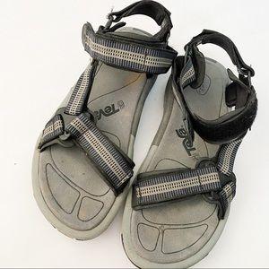Teva velcro strap sandals mens rubber sole
